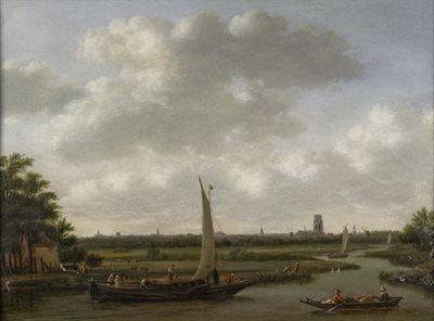 gezicht op rotte, schilderij 1692