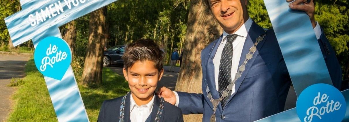 Burgemeester Lansingerland en Kinderburgemeester van de Rotte